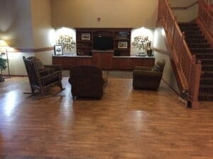 We felt this seldom used area of our lobby could be put to better use!