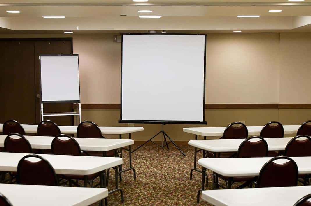meeting room with setup board at glenwood springs colorado